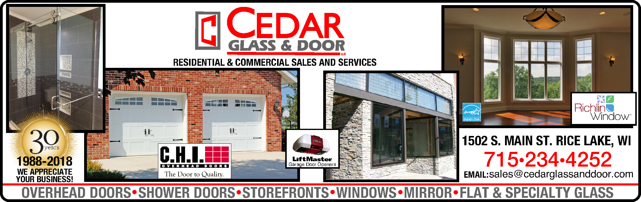 Cedar Gl & DooR, LLC (715) 234-4252 1502 S. MAIN ST. Rice ... on screen doors for patio doors, dishwasher for mobile home, deck for mobile home, lock door for mobile home, ladder for mobile home, doorbell for mobile home, hitch for mobile home, door frame for mobile home, shower for mobile home, interior door for mobile home, roof vent for mobile home, spring door for mobile home, back porch for mobile home, back door for mobile home, ramp for mobile home, fireplace for mobile home, patio for mobile home, screen doors for screen porches,